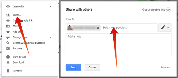 Share a folder with others on Google Drive