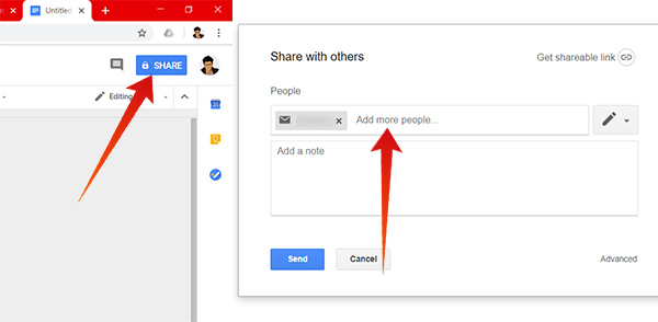 Share and edit documents with others