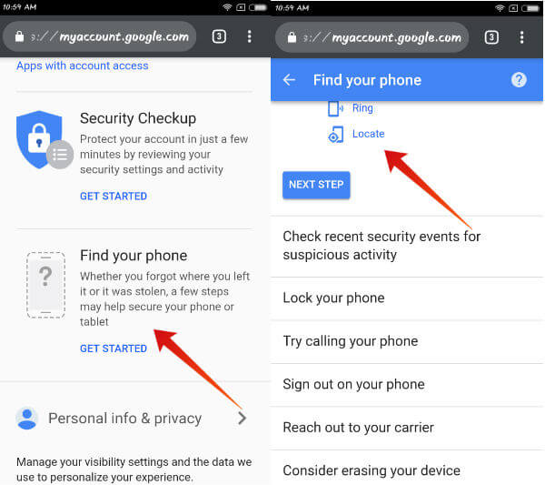 iphone track using google account