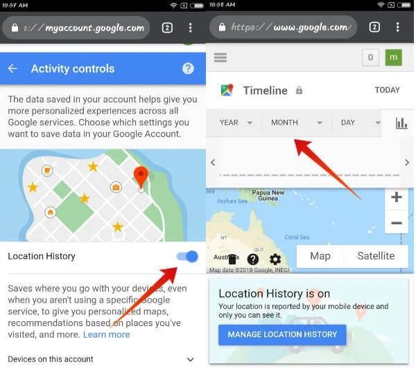 iphone track using google map