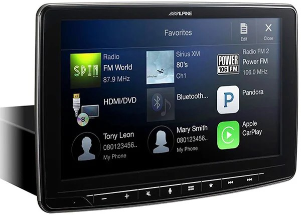 Alpine iLX-F309 HALO9 AM-FM-audio-video Receiver 9-inch Touch Screen and Mech-less Design - Single-DIN Mounting