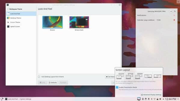 KDE Plasma Linux Desktop Environment