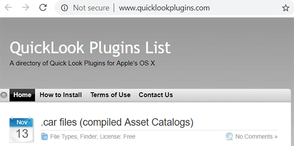 Quick Look Plugins
