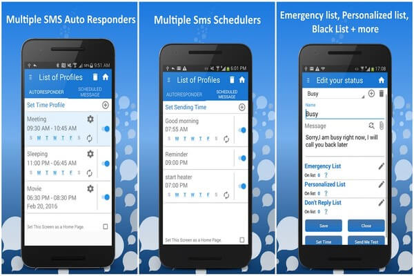 AutoResponder (SMS Auto Reply) + SMS Scheduler