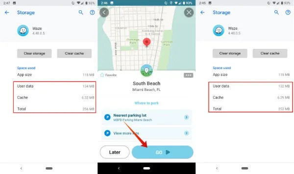 Android Waze Offline Android Cache Data