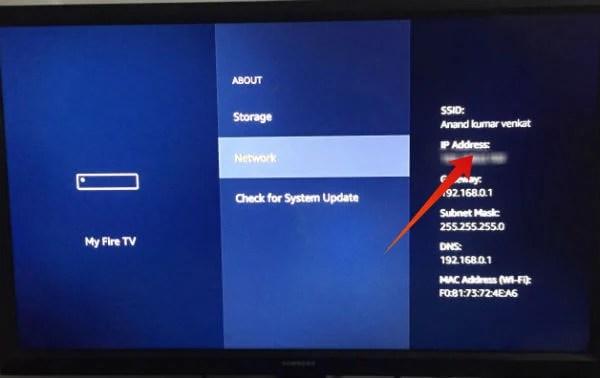 Fire TV Stick IP Address