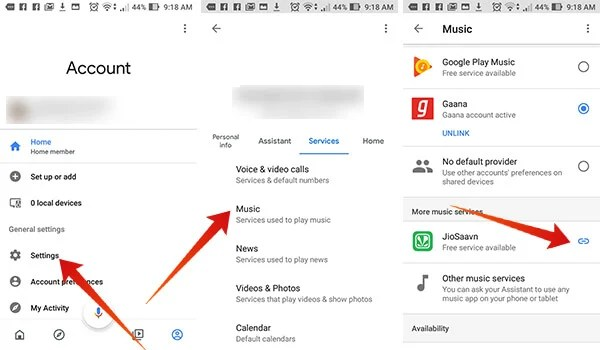 Link Saavn or Gaana Music App with Google Home to Play Indian Songs on Google Home