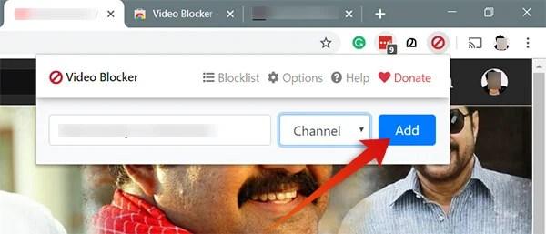 Block Youtube Channel from Google Chrome using Video Blocker
