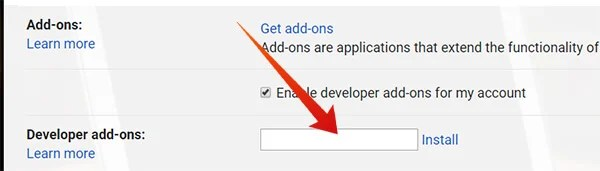 Install Developer Add-ons using Deployment ID