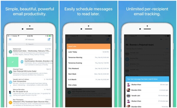 Polymail iOS mail application
