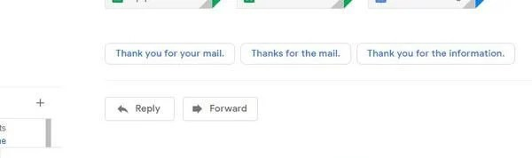 Smart Reply feature on Gmail