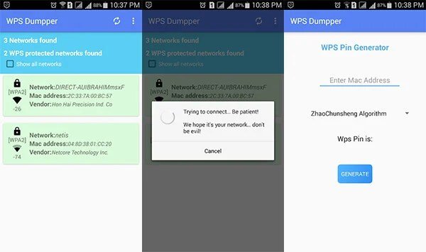 WPS WPA Connect Dumpper by MarMosha