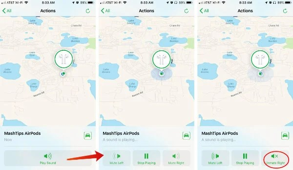 AirPods Locate Find My iPhone Sound