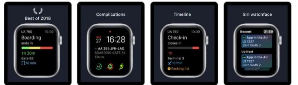 App in the Air travel app for Apple Watch
