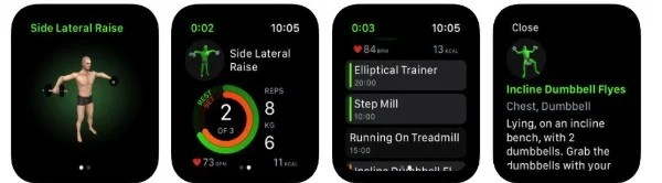 Gymaholic Workout Tracker app for Apple Watch