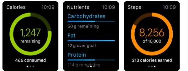 MyFitnessPal fitness tracking app for Apple Watch