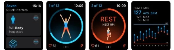 Seven - 7 Minute Workout app for Apple Watch