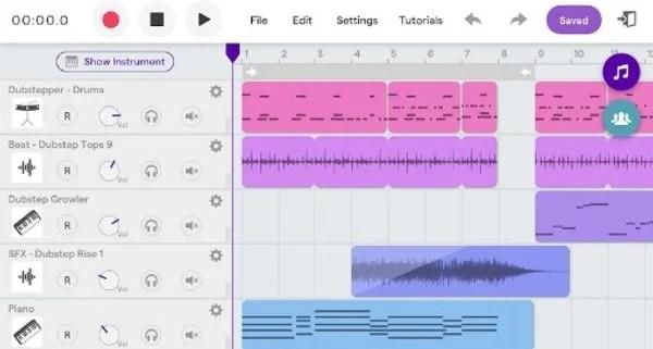 SoundTrap App Android - GarageBand Alternative