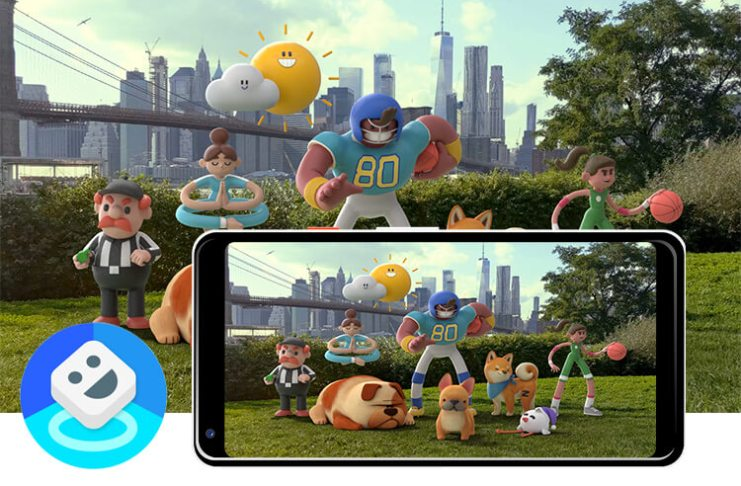 Install google playground and ar stickers on any android
