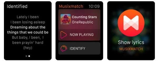 Musixmatch Lyrics Finder Apple Watch App