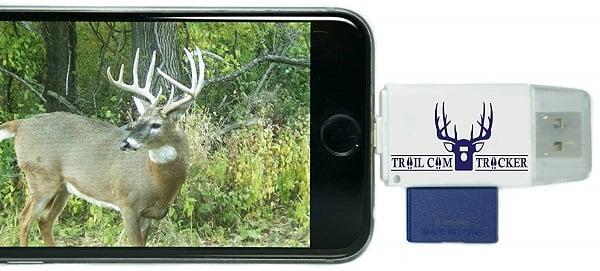 Trail Cam Tracker Trail Camera SD Card Reader