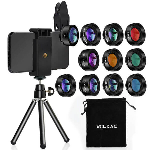 Wiilkac 12 in 1 Phone Lens Kit