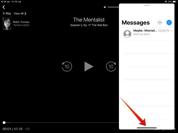 iPad launch slide over apps