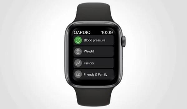 Qardio App on Apple Watch View History