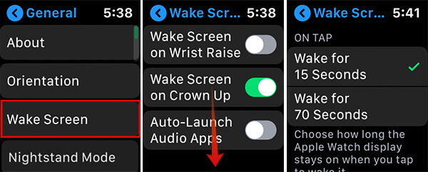 Reduce Wake Time Apple Watch