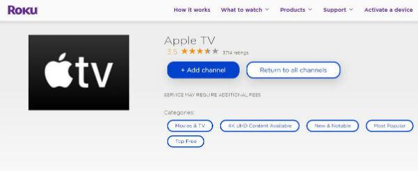 Apple tv for roku