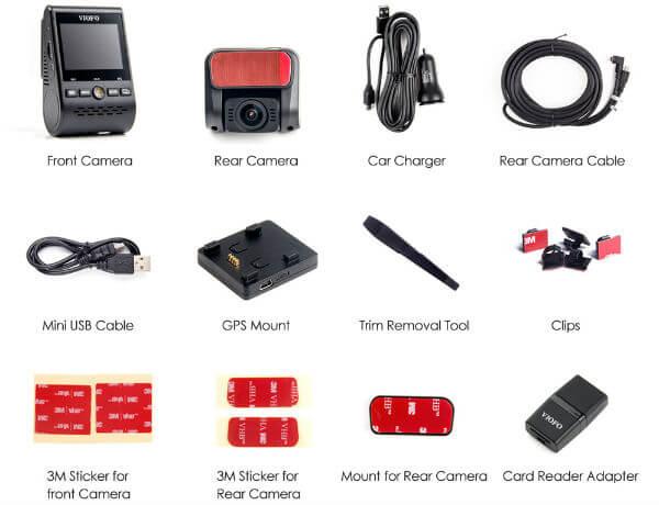 Viofo A129Pro DUO Dual Channel Dash Camera Inside Box