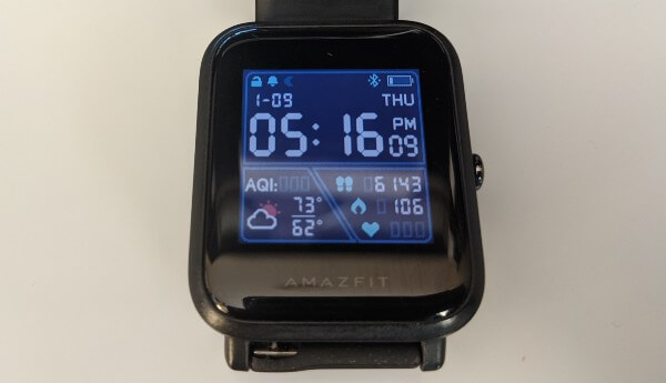 Amazfit Bip Review Digital Watchface