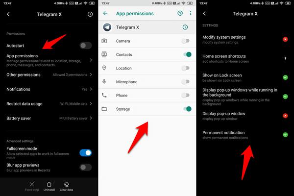 telegram app permissions
