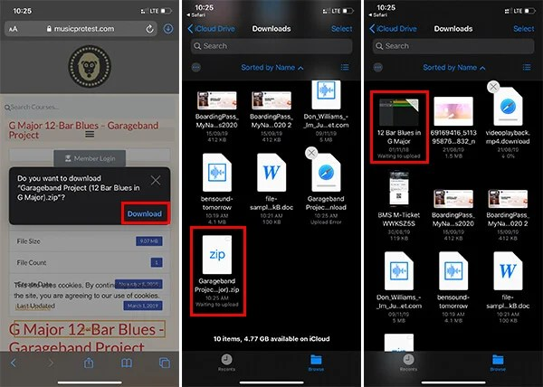 How to download zip files on iPad or iPhone