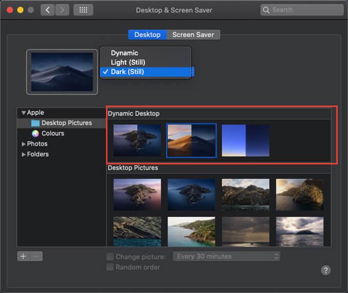 Mac Dynamic Wallpaper Desktop with Dark Mode