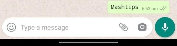 WhatsApp Typewriter font