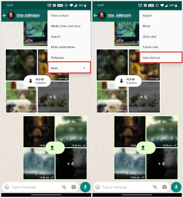 Hidden Features: Place WhatsApp Contact On Home Screen