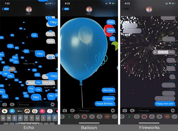 Use Words and Phrases that Cause iMessage Text Effects on iPhone