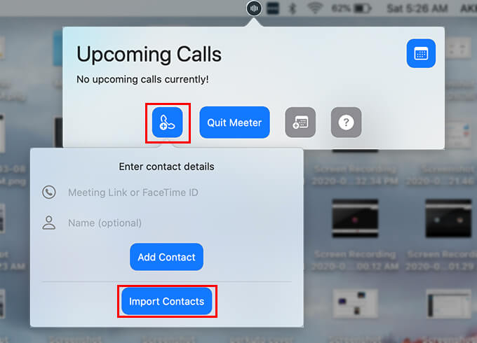 Add FaceTime Contacts to Speed Dial