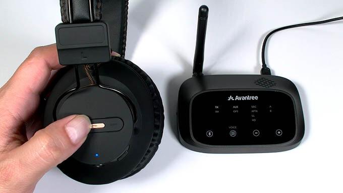 Avantree HT5009 Wireless Headphones and Transmitter