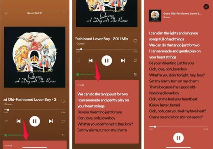 Get Full Song Lyrics on Spotify