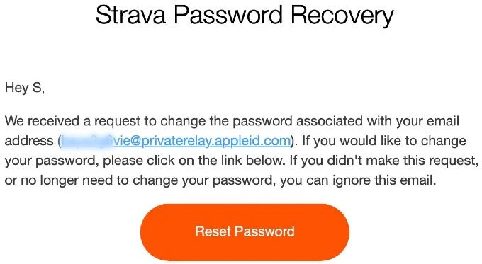 Apple Sign in Password Reset
