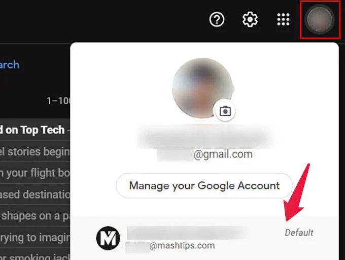 Switch Google Account