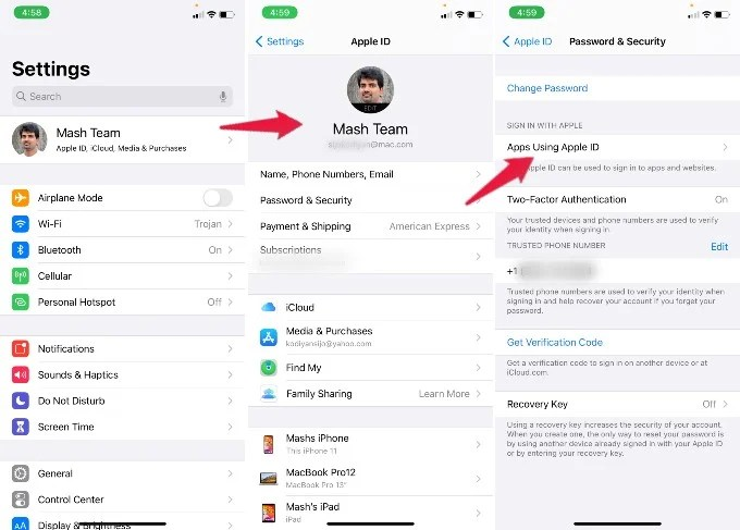 iPhone Password Security