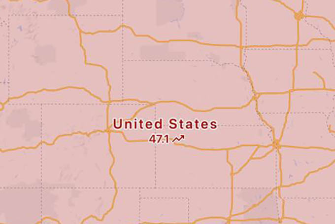 United States Covid Status in Google Maps