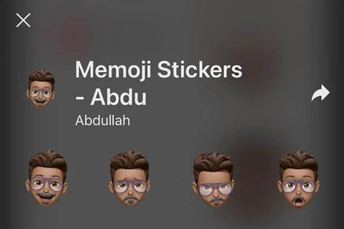 Memoji Sticker Pack in Signal App