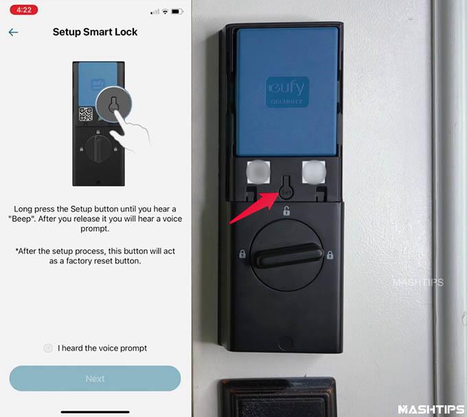 Setup Eufy Door Lock App