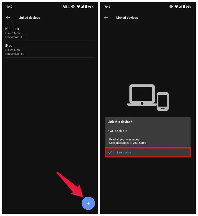 Link Signal to desktop or iPad