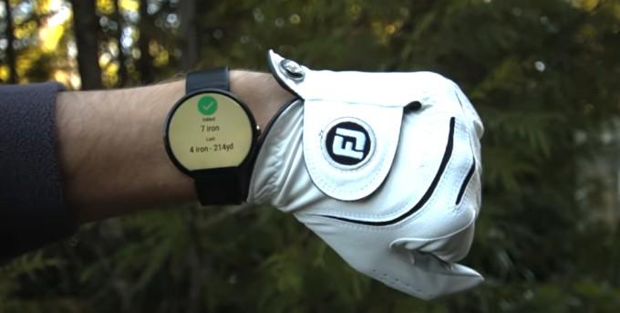 golf gps rangefinder on smartwatch