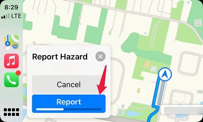 Report Hazard in Apple Maps